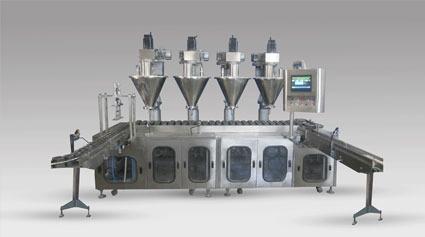 Automatic 4 Head Powder Filling Machine Jet-Pf120-4