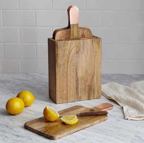 Chopping Board With Copper Handle
