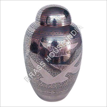 Brass Urn Engraved with Nickel Plated in  Gandhi Nagar