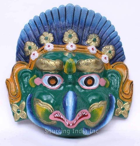 Hand Painted Garuda Face Wall Hanging