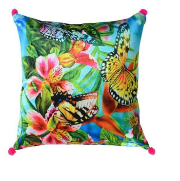 Soft Butterfly Multicolor Cushion