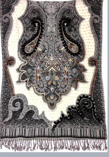 Beaded Wool Shawl