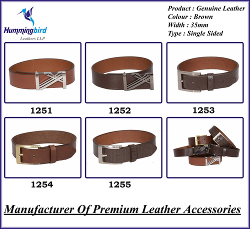 Brown Leather Belt With Buckles