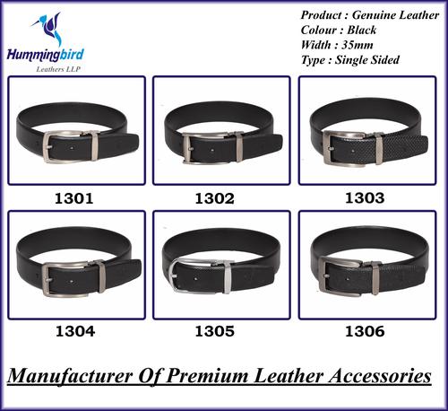 Genuine Leather Black Belt (P5)