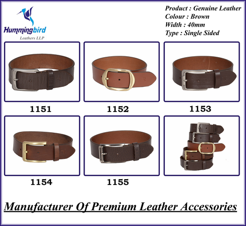 Genuine Leather Single Sided Brown Belt
