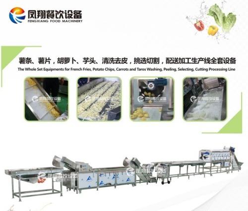 Root Stock Vegetable Washing Peeling Selecting Cutting Processing Line