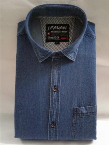 Casual Denim Men's Shirt
