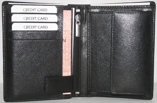 Black Bifold Leather Wallets