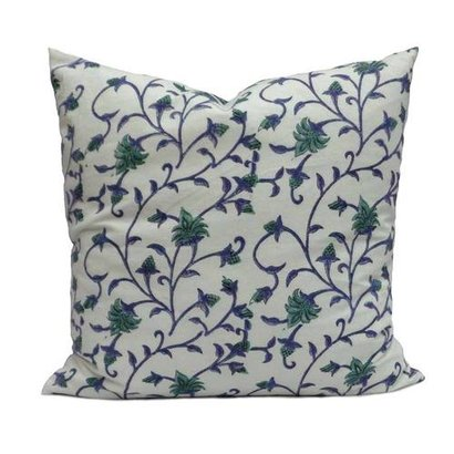 Floral Bale 0904 Soft Cotton Cushion Cover  Certifications: Epch
