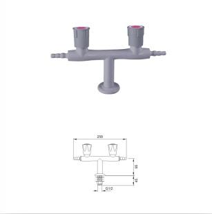 Fine Finish Laboratory Double Outlet Faucet