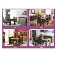 Durable Leather Dining Table