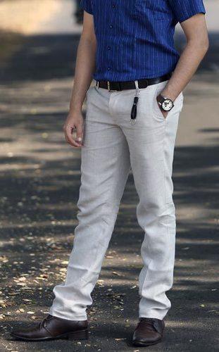 Mens Linen Trouser in  Jogeshwari (E)