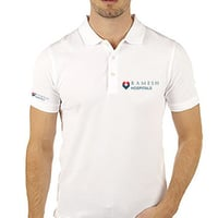 White Embroidered Polo T Shirt