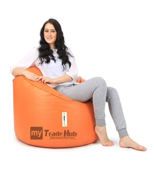 Orange Can Mudda Bean Bag Chair without Beans