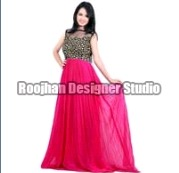 Girls Designer Georgette Gowns