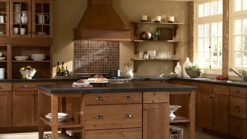 Panel Wood Modular Kitchen