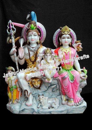 Shiv Parivaar Marble Statue