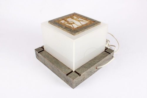 Acrylic Lamp With Stone Veneer Base In Ahmedabad Gujarat