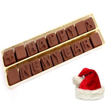 Happy New Year Chocolate Alphabets