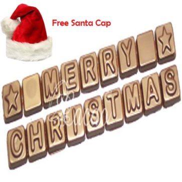 Merry Christmas Chocolate Alphabets