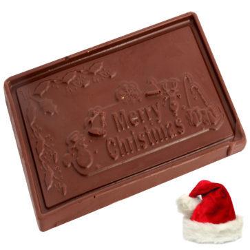 Merry Christmas Chocolate Bar - Small