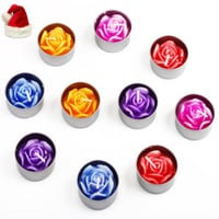 Set of Ten Floating Glittering Candles
