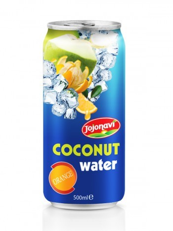 Orange Flavour Drink With Coconut Water In Aluminium Can