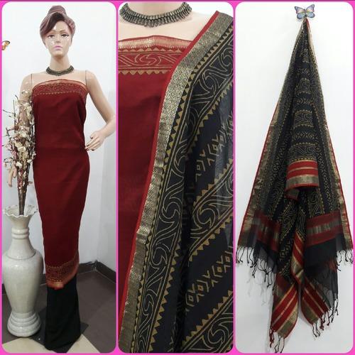 Designer Handblock Maheshwari Handloom Ladies Suit