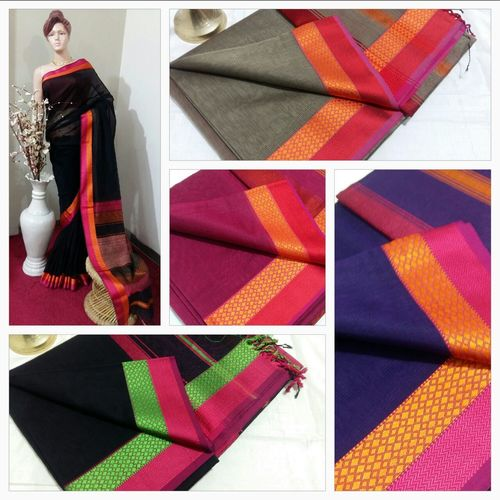 Double Resham Patta Designer Handloom Saree