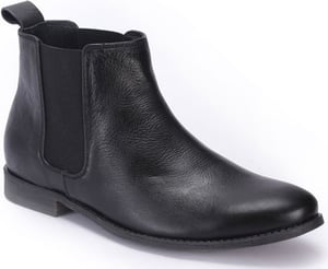 Men's Leather Casual Non Lacing Boots