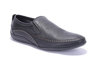 Men's Leather Casual Non Lacing Shoes