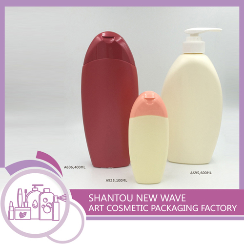 Plastic Cosmetic Empty Shampoo Packaging Bottles With Pump