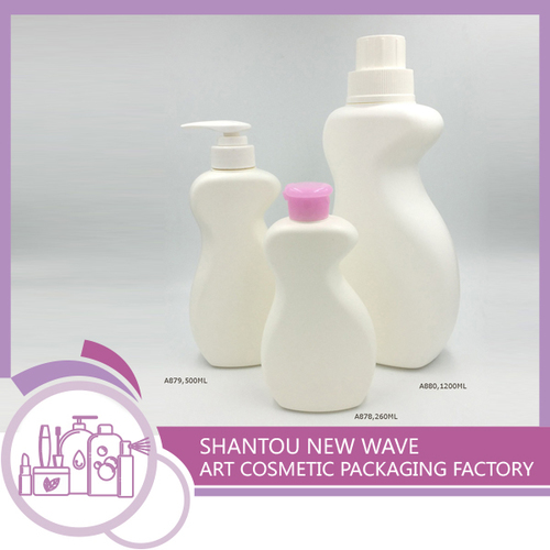 Plastic Cosmetic Shampoo Packaging Containers With Pump
