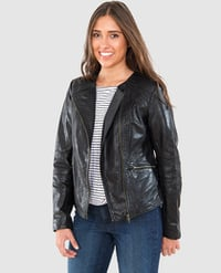 Women's Leather Jacket in Black