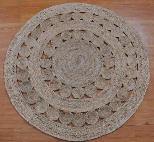 Braided Round Designer Jute Rugs