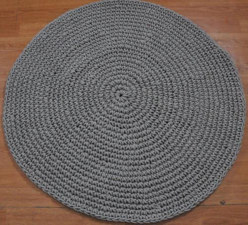Round Natural Black Jute Rugs