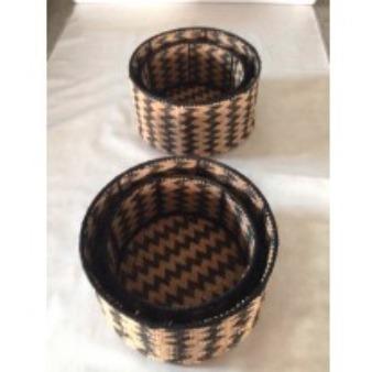Woven Rug Storage Basket