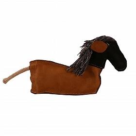 Dura Fused Leather Crackle Horse Dog Toy