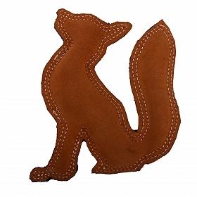 Dura Fused Leather Fox Dog Toy