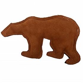 Dura Fused Leather Polar Bear Dog Toy