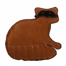 Dura Fused Leather Racoon Dog Toy