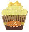 Cupcake Birthday Invitations - Yellow