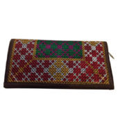 Kutch Beautiful Embroidery Work Net Shape Multi color Clutch Purses