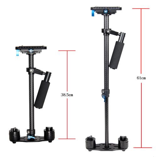 YELANGU Professional 60cm Handheld Camera Stabilizer S60T with Carbon Fiber Rods, Support DSLR Camcorders