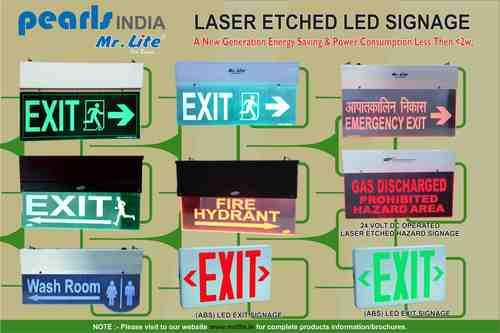 Laser Etched LED Signage