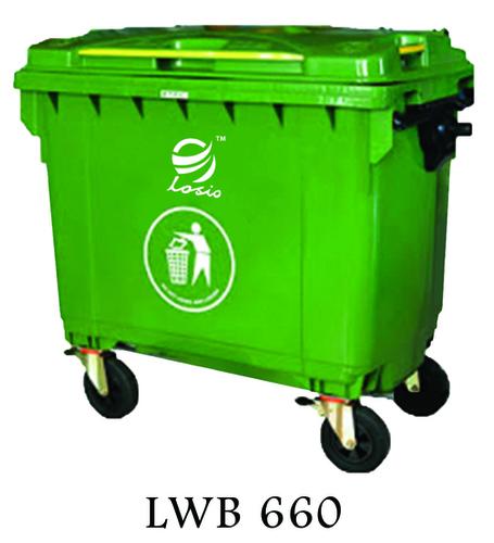 Losio Wheel Barrow Type Waste Bin 660l