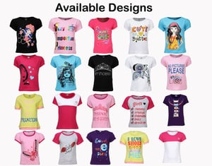 50 Cotton T-shirts for Girls