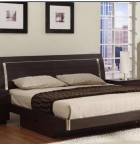King Size Half Back Bed