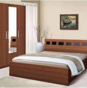 Pine Wood Canopy King Bed