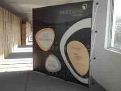 Pop Up Curved Backdrop Stand